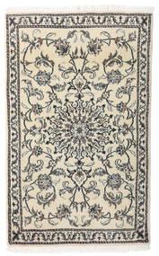 Nain Alfombra 87X142 Oriental Hecha A Mano Beige/Gris Oscuro (Lana, Persia/Irán)