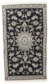 Nain Alfombra 90X145 Oriental Hecha A Mano Negro/Gris Claro (Lana, Persia/Irán)