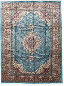 Cachemira Art. De Seda Alfombra 276X370 Oriental Hecha A Mano Gris Claro/Negro Grande ( India)