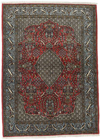 Ghom Kork/De Seda Alfombra 113X154 Oriental Hecha A Mano Gris Oscuro/Negro (Lana/Seda, Persia/Irán)