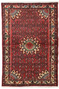 Hosseinabad Alfombra 99X149 Oriental Hecha A Mano Marrón Oscuro/Rojo Oscuro (Lana, Persia/Irán)