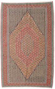 Kilim Senneh Alfombra 152X245 Oriental Tejida A Mano Gris Claro/Rojo Oscuro (Lana, Persia/Irán)
