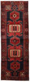 Hamadan Alfombra 104X295 Oriental Hecha A Mano Rojo Oscuro (Lana, Persia/Irán)