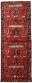 Hamadan Alfombra 105X284 Oriental Hecha A Mano Rojo Oscuro/Óxido/Roja (Lana, Persia/Irán)