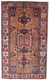 Hamadan Alfombra 130X222 Oriental Hecha A Mano Marrón Oscuro/Rojo Oscuro (Lana, Persia/Irán)