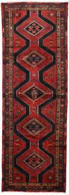 Hamadan Alfombra 100X290 Oriental Hecha A Mano Rojo Oscuro/Negro (Lana, Persia/Irán)