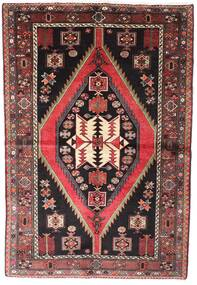 Hamadan Alfombra 148X218 Oriental Hecha A Mano Negro/Marrón (Lana, Persia/Irán)