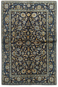 Keshan Alfombra 134X205 Oriental Hecha A Mano Azul Oscuro/Gris Oscuro (Lana, Persia/Irán)