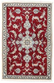 Nain Alfombra 90X140 Oriental Hecha A Mano Beige/Rojo Oscuro (Lana, Persia/Irán)