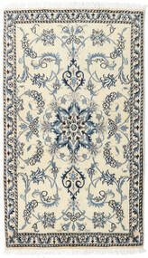 Nain Alfombra 85X145 Oriental Hecha A Mano Beige/Gris Claro (Lana, Persia/Irán)