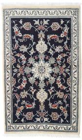 Nain Alfombra 90X147 Oriental Hecha A Mano Púrpura Oscuro/Blanco/Crema (Lana, Persia/Irán)