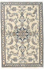Nain Alfombra 90X140 Oriental Hecha A Mano Beige/Gris Claro (Lana, Persia/Irán)