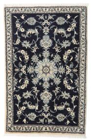Nain Alfombra 87X135 Oriental Hecha A Mano Azul Oscuro/Gris Claro (Lana, Persia/Irán)