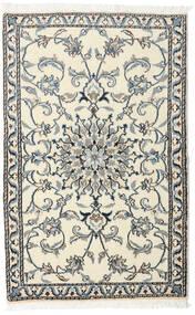 Nain Alfombra 88X140 Oriental Hecha A Mano Beige/Gris Oscuro (Lana, Persia/Irán)