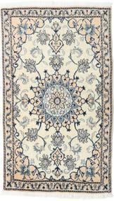 Nain Alfombra 86X147 Oriental Hecha A Mano Beige/Gris Claro (Lana, Persia/Irán)