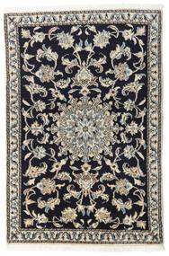 Nain Alfombra 90X135 Oriental Hecha A Mano Azul Oscuro/Gris Claro/Gris Oscuro (Lana, Persia/Irán)