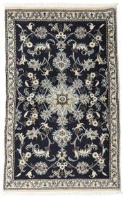 Nain Alfombra 86X133 Oriental Hecha A Mano Negro/Gris Claro (Lana, Persia/Irán)
