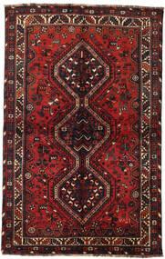 Shiraz Alfombra 145X228 Oriental Hecha A Mano Rojo Oscuro/Negro (Lana, Persia/Irán)