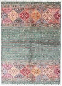 Shabargan Alfombra 148X209 Moderna Hecha A Mano Gris Oscuro/Rosa Claro (Lana, Afganistán)