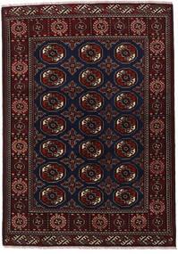 Turkaman Alfombra 136X193 Oriental Hecha A Mano Rojo Oscuro/Gris Oscuro (Lana, Persia/Irán)