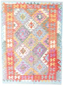 Kilim Afghan Old Style Alfombra 132X178 Oriental Tejida A Mano Blanco/Crema/Rosa Claro (Lana, Afganistán)