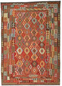 Kilim Afghan Old Style Alfombra 246X349 Oriental Tejida A Mano Óxido/Roja/Gris Oscuro (Lana, Afganistán)