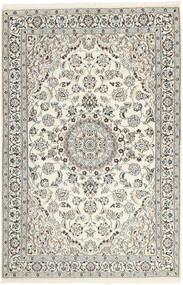 Nain 9La Alfombra 117X183 Oriental Tejida A Mano Gris Claro/Beige (Lana/Seda, Persia/Irán)