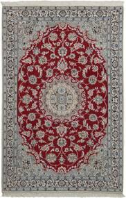 Nain 9La Alfombra 118X181 Oriental Tejida A Mano Gris Oscuro/Gris Claro (Lana/Seda, Persia/Irán)