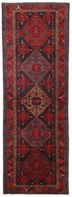 Hamadan Alfombra 104X309 Oriental Hecha A Mano Rojo Oscuro/Negro (Lana, Persia/Irán)