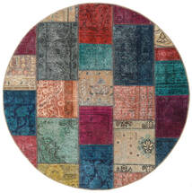 Patchwork - Persien/Iran Alfombra 150X150 Moderna Hecha A Mano Cuadrada Gris Oscuro/Marrón Claro (Lana, Persia/Irán)