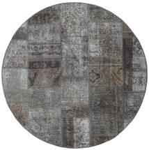 Patchwork - Persien/Iran Alfombra 150X150 Moderna Hecha A Mano Cuadrada Gris Oscuro/Gris Claro (Lana, Persia/Irán)