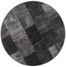 Patchwork - Persien/Iran Alfombra Ø 150 Moderna Hecha A Mano Redonda Gris Oscuro/Negro (Lana, Persia/Irán)