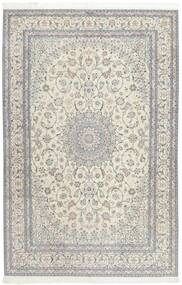 Nain 6La Alfombra 207X317 Oriental Hecha A Mano Gris Claro/Beige Oscuro (Lana/Seda, Persia/Irán)