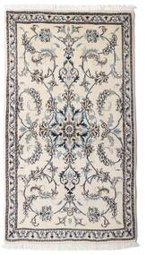 Nain Alfombra 84X152 Oriental Hecha A Mano Gris Claro/Beige (Lana, Persia/Irán)