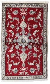 Nain Alfombra 86X145 Oriental Hecha A Mano Rojo Oscuro/Gris Claro (Lana, Persia/Irán)