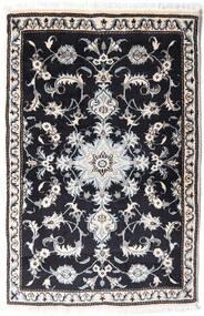 Nain Alfombra 87X134 Oriental Hecha A Mano Gris Oscuro/Gris Claro (Lana, Persia/Irán)