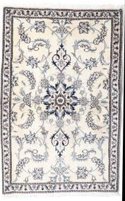 Nain Alfombra 90X139 Oriental Hecha A Mano Beige/Gris Claro/Blanco/Crema (Lana, Persia/Irán)