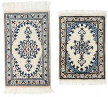 Nain Alfombra 40X60 Oriental Hecha A Mano Gris Claro/Gris Oscuro (Lana, Persia/Irán)