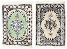 Nain Alfombra 40X60 Oriental Hecha A Mano Gris Claro/Beige (Lana, Persia/Irán)