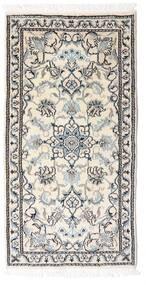 Nain Alfombra 70X140 Oriental Hecha A Mano Gris Claro/Beige/Blanco/Crema (Lana, Persia/Irán)