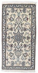 Nain Alfombra 70X140 Oriental Hecha A Mano Gris Claro/Negro (Lana, Persia/Irán)