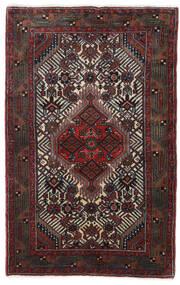 Hamadan Alfombra 78X123 Oriental Hecha A Mano Negro/Rojo Oscuro (Lana, Persia/Irán)