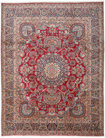 Kerman Alfombra 303X391 Oriental Hecha A Mano Gris Oscuro/Rojo Oscuro Grande (Lana, Persia/Irán)