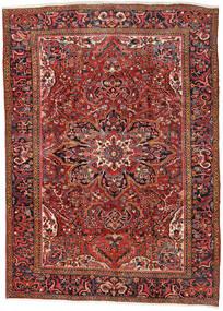 Heriz Alfombra 270X376 Oriental Hecha A Mano Rojo Oscuro/Óxido/Roja Grande (Lana, Persia/Irán)