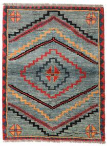 Gabbeh Rustic Alfombra 112X148 Moderna Hecha A Mano Gris Claro/Verde (Lana, Persia/Irán)
