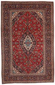 Keshan Alfombra 200X306 Oriental Hecha A Mano Rojo Oscuro/Negro (Lana, Persia/Irán)