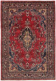 Hamadan Shahrbaf Alfombra 209X315 Oriental Hecha A Mano Rojo Oscuro/Azul Oscuro (Lana, Persia/Irán)
