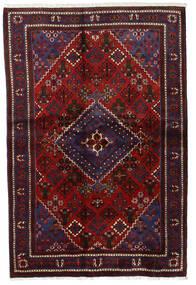 Joshaghan Alfombra 135X204 Oriental Hecha A Mano Rojo Oscuro/Marrón Oscuro (Lana, Persia/Irán)