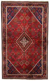 Joshaghan Alfombra 131X217 Oriental Hecha A Mano Rojo Oscuro/Negro (Lana, Persia/Irán)