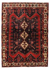 Afshar Alfombra 152X208 Oriental Hecha A Mano Rojo Oscuro/Negro (Lana, Persia/Irán)